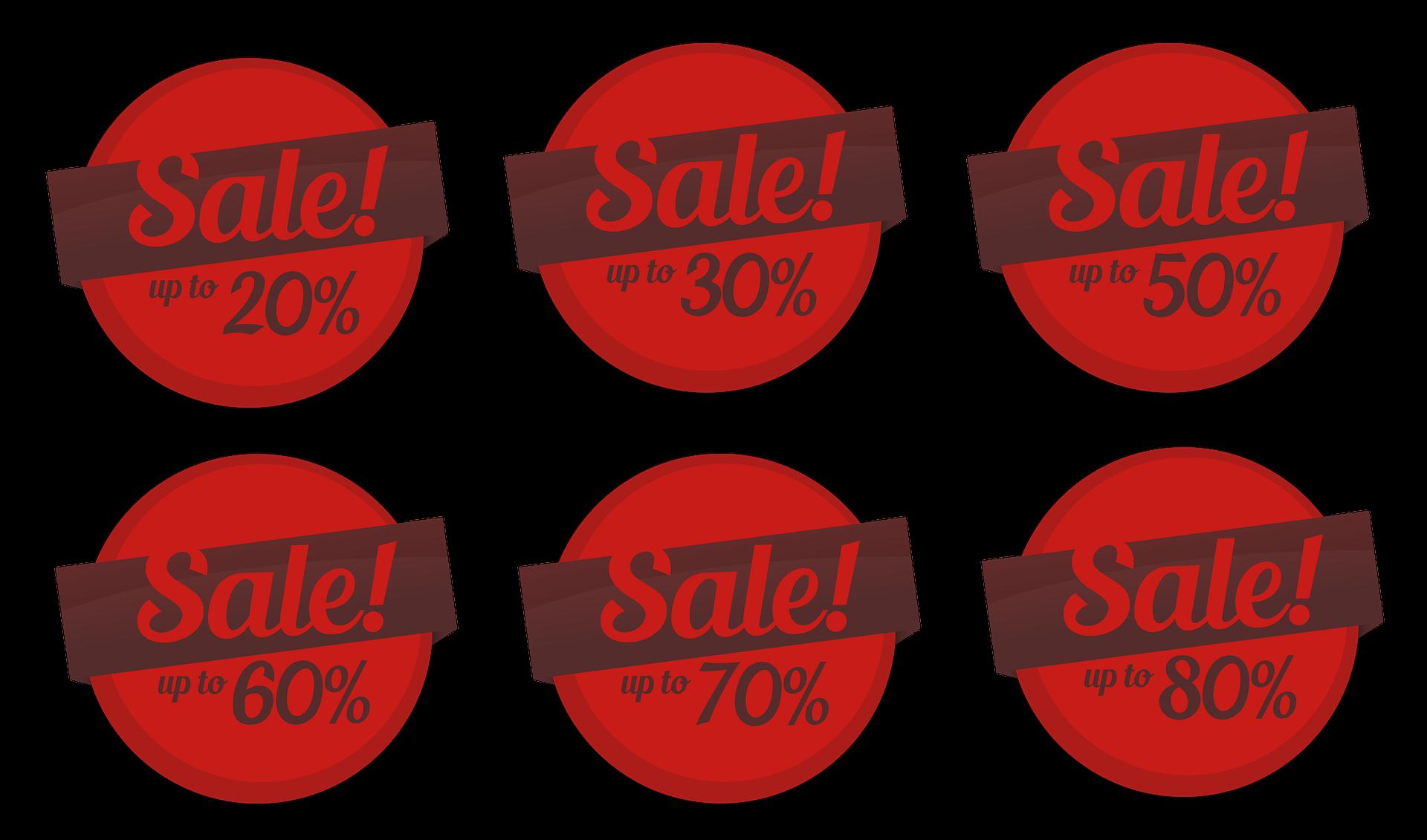 Etiquetas para negócios venda